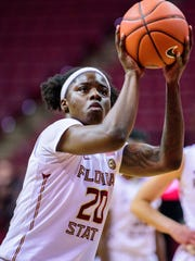 Shakayla Thomas (20) has continued to assert her presence for Florida State this season.
