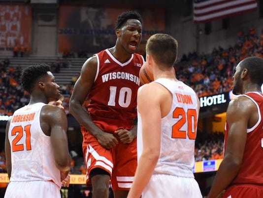 NCAA Basketball: Wisconsin at Syracuse