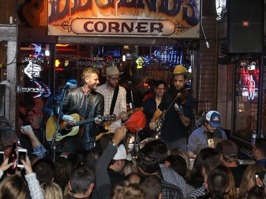 Dierks Bentley performs Nov. 14, 2016, at Legends Corner on Lower Broadway.
