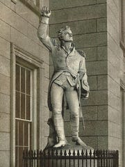 Larkin Mead's original statue of Ethan Allen on the