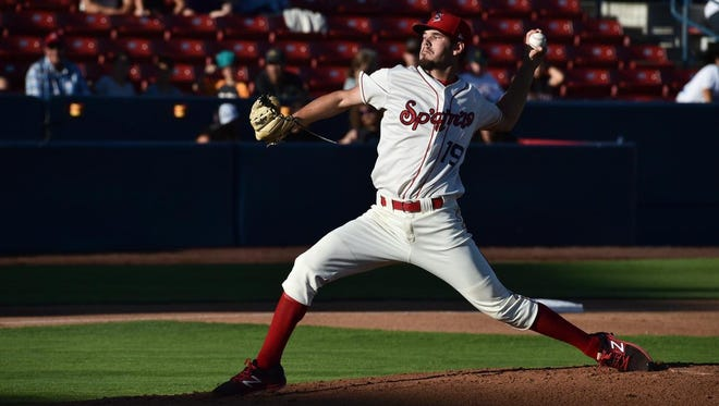 Former North Florida Christian pitcher Cole Ragans pitches for the Spokane Indians during his first season in the minor leagues.