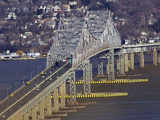 The Tappan Zee Bridge looking East toward Westchester