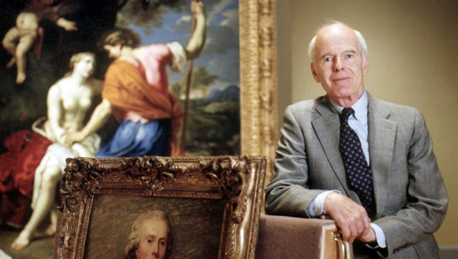 Bruce Dayton, longtime Twin Cities and Minnesota philanthropist, poses with paintings at the Minneapolis Institute of Arts in Minneapolis in 1992. Dayton, the father of Minnesota's governor and a key figure in building his family's company into the massive retailing business that became Target Corp., died Friday. He was 97. Dayton, was also an arts patron who donated millions of dollars to the Minneapolis Institute of Art.