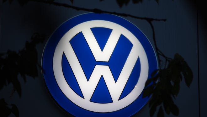 The Volkswagen logo is seen at a car dealership on October 8, 2015 in Bath, England. As the scandal surrounding Volkswagen and other motor manufacturers concerning diesel engined cars fitted with software to cheat emissions tests deepen, there have been calls for further tightening and regulation of the industry to reduce harmful emissions even further.