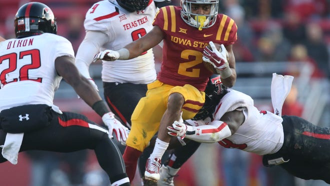 Leading the way Saturday for Iowa State was Aaron Wimberly, who finished with 102 yards and two touchdowns.