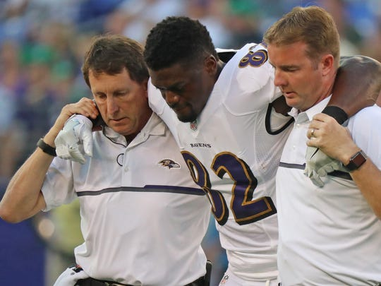 The Baltimore Ravens lost tight end Ben Watson to a ruptured Achilles' tendon in a preseason game last week.