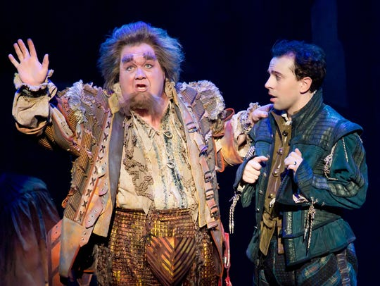 """From left: Blake Hammond as Thomas Nostradamus and Rob McClure as Nick Bottom were featured in the National Tour of """"Something Rotten!"""" The show will premiere in El Paso in 2019."""