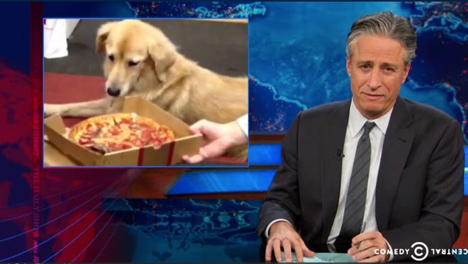 Jon Stewart prepares to eat his words when it comes to Chicago deep-dish pizza.