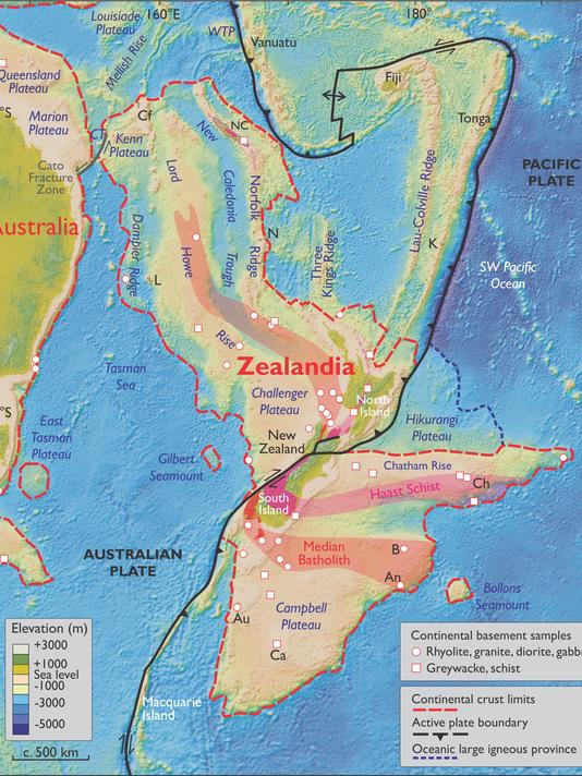 Australia Underwater Map.Researchers Discover New Underwater Continent Zealandia