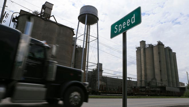 A CJ file photo of the cement plant in Speed, Ind. seen from U.S. 31.