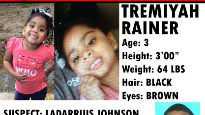 Amber Alert for Tremiyah Rainer.