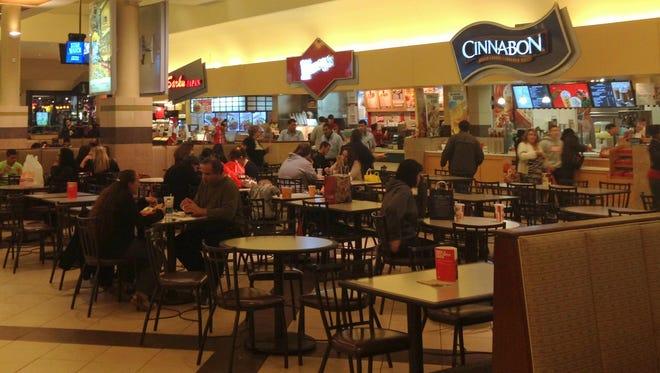 Food court at Rockaway Townsquare Mall