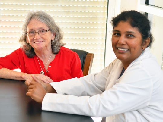 Karen Deitemeyer has COPD and is an advocate for public awareness of this medical condition. Here she is seen with her doctor of internal medicine Dr. Geetha Priyanka.