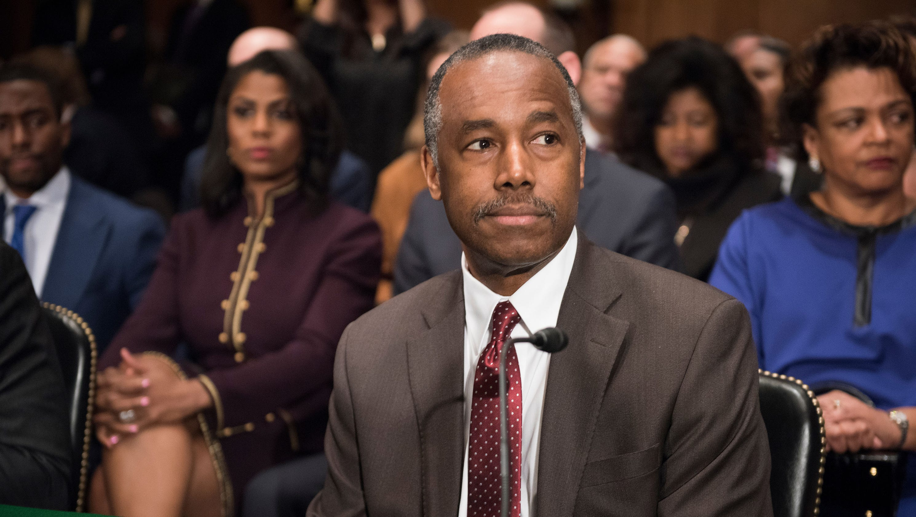 For the record carson meets with senate committee for The carson