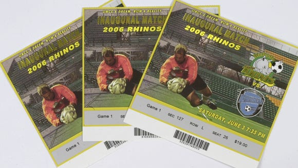 Tickets to the 2006 inaugural match of the Rochester