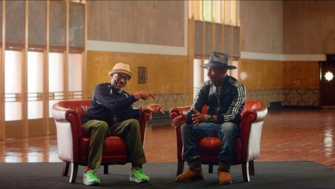 In a series of Web videos, Spike Lee and Pharrell Williams chat ahead of the American Express Unstaged live-streaming concert Tuesday.