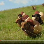 Screenshot of Heinz's 'Weiner Dog Stampede' commercial. It will debut on tv during Super Bowl 50