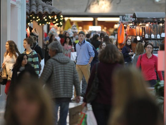 The mall filled with more shoppers about 7:30 a.m.