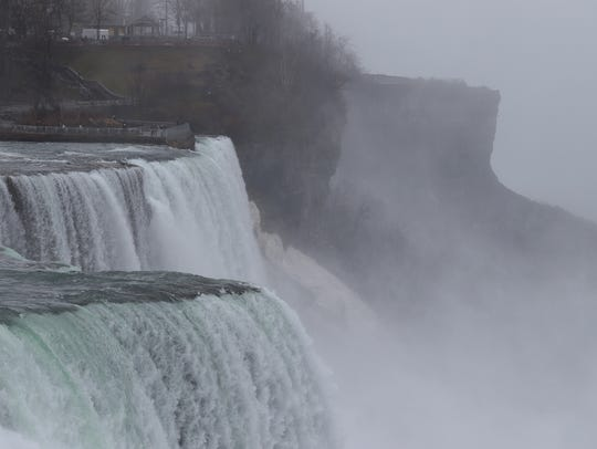 The American Falls with Luna Island on the other side