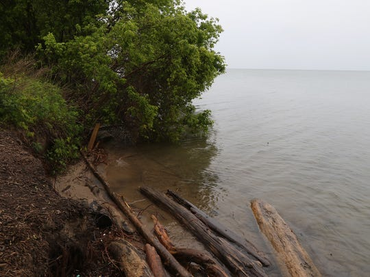 Lake Ontario levels are so high that there is no beach at Durand-Eastman Beach.  The opening to the beach drops off into the lake.