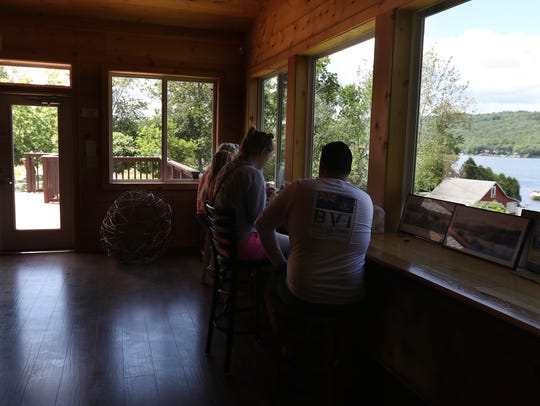The tap room overlooks Keuka Lake.