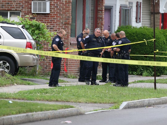 A city man was found dead behind a residence at 675