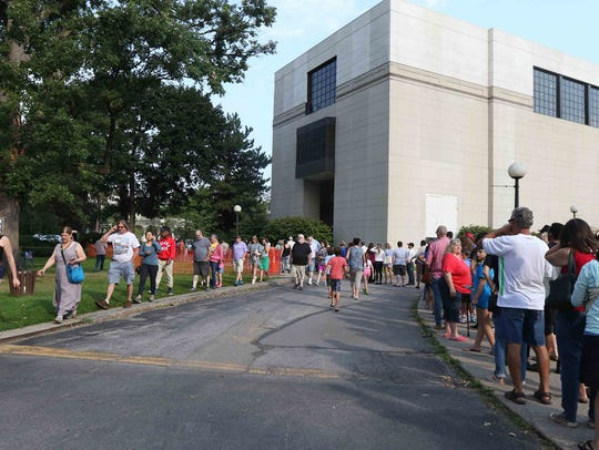 Rochester Museum Science Centerhanded out free solar eclipse glasses for the August 2017 solar eclipse.