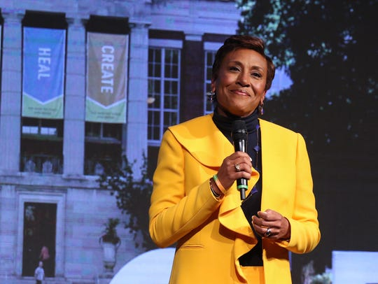 Robin Roberts, co-anchor of Good Morning America, delivers
