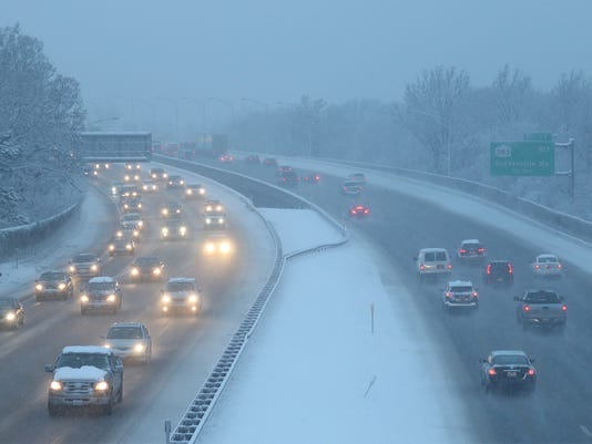snowy commute Interstate 390