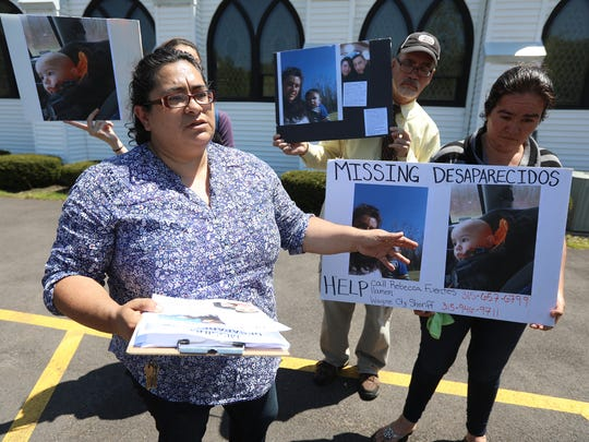 Rebecca Fuentes, with Workers' Center of Central New York, holds a press conference with Estela Calderon about Calderon's missing daughter and grandson.  Last time Calderon communicated with her daughter, Selena Hidalgo Calderon,18, was on May 17.  Hidalgo Calderon and her son, Owen, 1, having been living with her boyfriend in the Sodus area for the last few months.