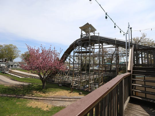 The Log Flume is similar to the old Over the Falls