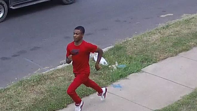 Man in red: Northenr Regional Police are looking for this man in connection with a stolen vehicle.