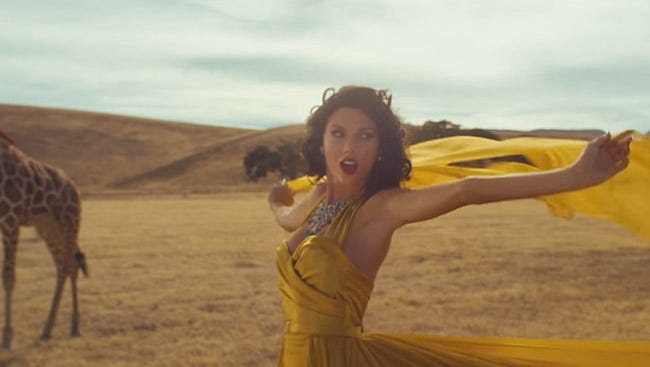 Screenshot from Taylor Swift's 'Wildest Dreams' video.