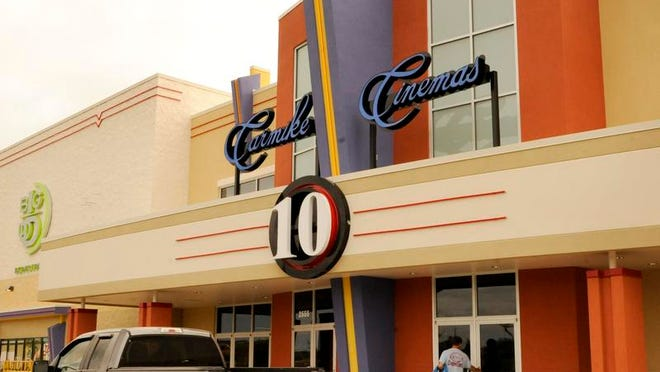 Rim Rock Designs' Mike Couture is one of several dozen workers getting ready for Thursday's opening, the Carmike Cinema Manitowoc 10, which the Georgia-based chain hopes will attract moviegoers from the Lakeshore area and beyond.