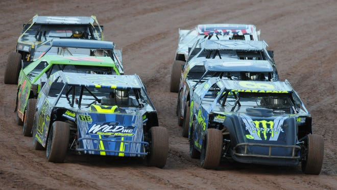 Weekly car races take place at the Oshkosh SpeedZone on Friday nights.