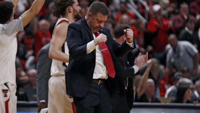 Texas Tech coach Chris Beard cheers on the court during the second half of a Big 12 Conference game Jan. 4 against Oklahoma State at United Supermarkets Arena. On Wednesday, the NCAA Division I Council announced the first day of competition for men's and women's basketball will be Nov. 25.