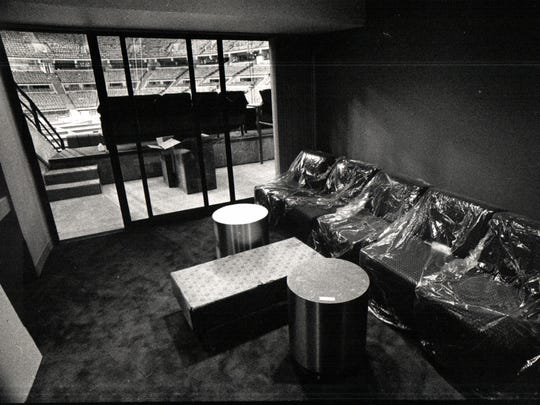 Furniture being assembled at the new club level suites