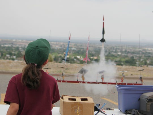 Every cadet at Rocketeer Academy's summer camp builds and launches their own rocket as part of the Friday graduation events.