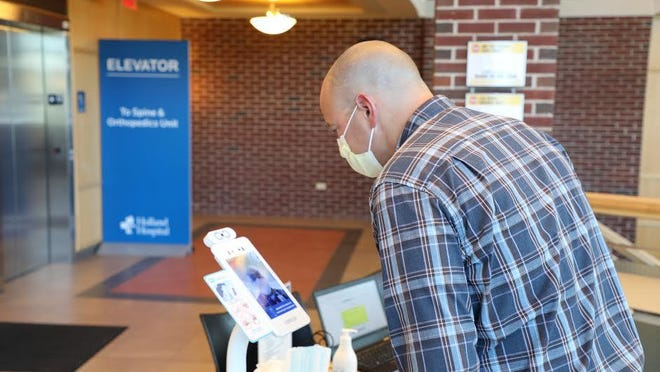 Holland Hospital is implementing new thermal sensor imaging technology to streamline the screening process for people entering the hospital.