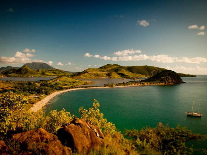 One of the northern islands in the Lesser Antilles of the Caribbean, St. Kitts is just 1,300 miles south of Miami.
