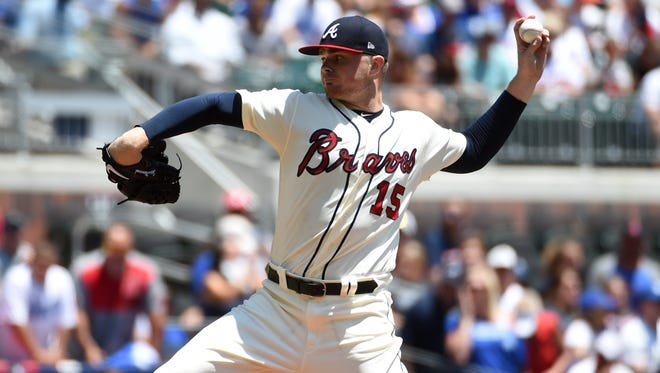 Braves pitcher Sean Newcomb came into Sunday's game with a record of 9-5 and 3.41 ERA.