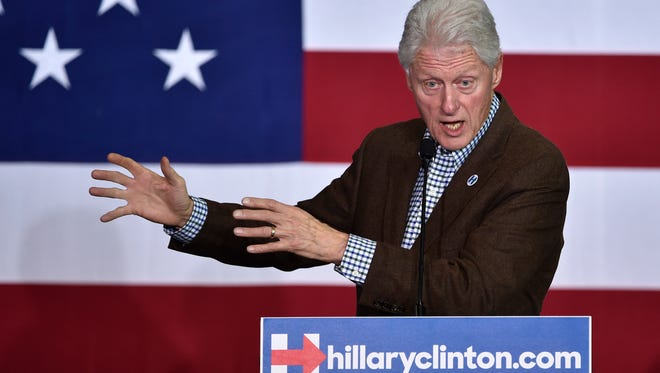 Former President Bill Clinton speaks at a campaign event for his wife, Democratic presidential candidate Hillary Clinton, on Thursday, Jan. 21, 2016, in Las Vegas.