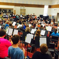 One hundred and five students have rehearsed two and a half hours a day for Aug. 6's Summer Band Bash.