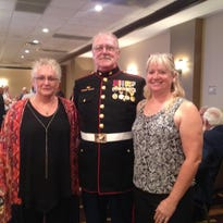 Local veteran Dan Hall, center, was among more than 100 who recently attended a 50th anniversary reunion in Branson with the 1st Battalion 3rd Marine regiment.