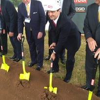 Joseph Galli Jr., chief executive officer of TechTronic Industries, at a May groundbreaking ceremony for a new distribution center along Interstate 85.