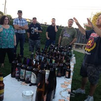 Attendees of Kirk Gularte's backyard tasting tried a wide variety of craft brews including The Bruery's Mash and Grind.