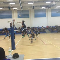 The Notre Dame Royals came from behind to beat the Harvest Christian Academy Eagles in three sets in the Independent Interscholastic Athletic Association of Guam Boys' Volleyball League.