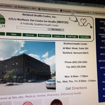 The website of the Richford Health Center in Richford. The center, known as the Northern Tier Center for Health, was among six Vermont health centers to received federal construction grants.