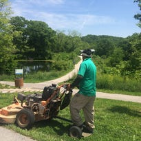 Parklands of Floyds Fork crews were mowing last week on an air quality warning day.  The nonprofit organization does have a policy on mowing during air quality alerts.