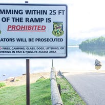 This sign was installed recently at the Chittenden Reservoir fishing access area in response to an increased number of incidents in which swimmers prevented the launching of boats.